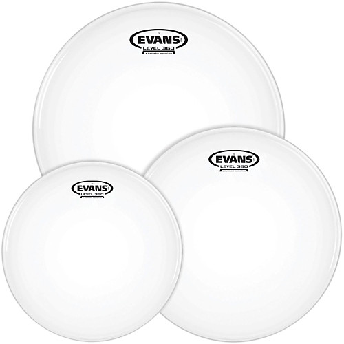 Evans Level 360 G1 Coated Drum Heads Rock Tom Pack – 10″, 12″, 16″ 1