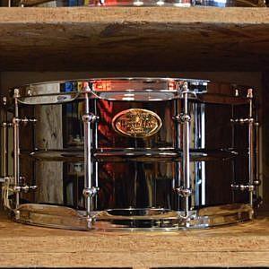 WorldMax Black Brass Snare Drum - 14x6.5in
