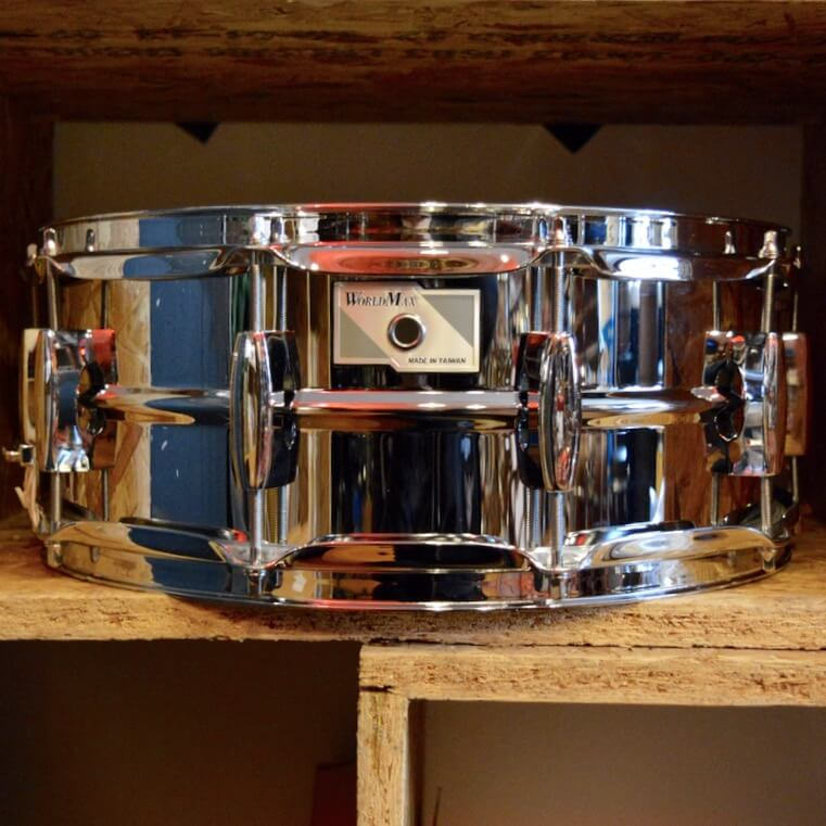 WorldMax Steel Snare Drum – 14×5.5in