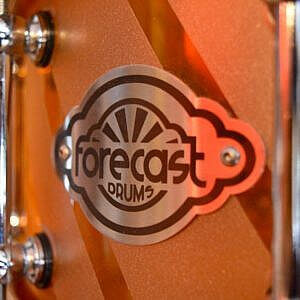 Forecast Custom Amber Acrylic Snare Drum - 14x6in