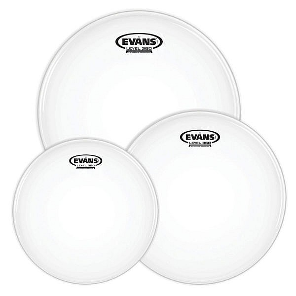 Evans Level 360 G2 Coated Drum Heads Fusion Tom Pack – 10″, 12″, 14″ 1