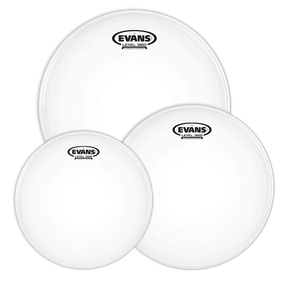Evans Level 360 G1 Coated Drum Heads Fusion Tom Pack – 10″, 12″, 14″ 1