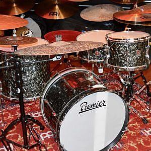 Vintage Premier Black Diamond Pearl incl. snare