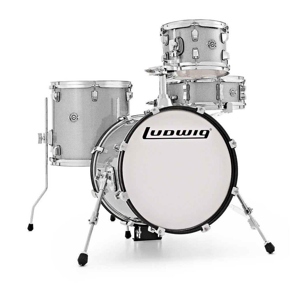 Ludwig Breakbeats Kit by ?uestlove – White Sparkle