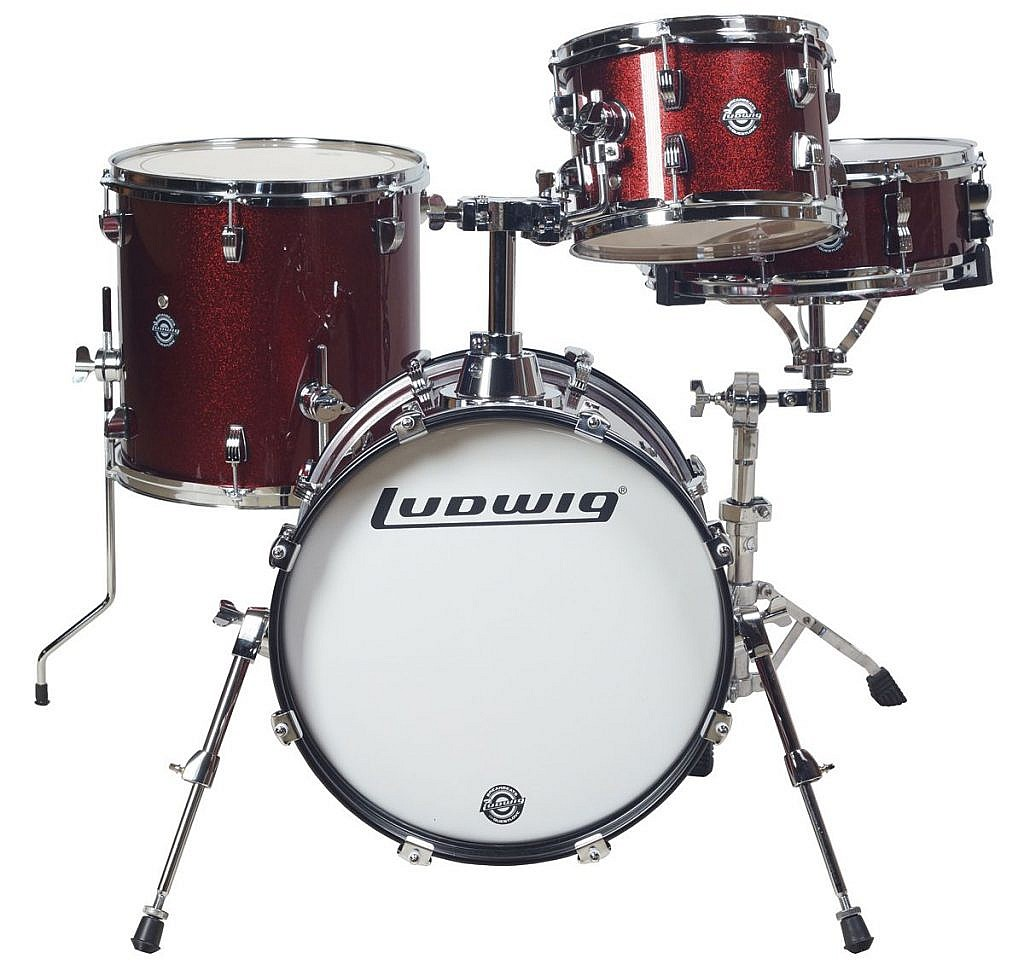 Ludwig Breakbeats Kit by ?uestlove – Wine Red Sparkle