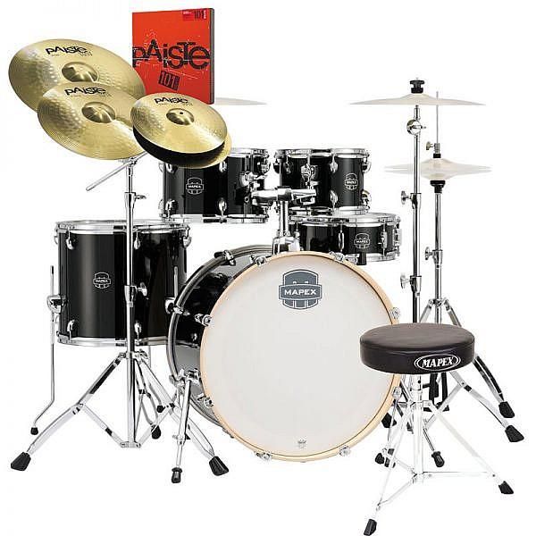"Meinl 14/"" HCS Hi hat Cymbals With Mapex Tornado Drum Hardware Stand"