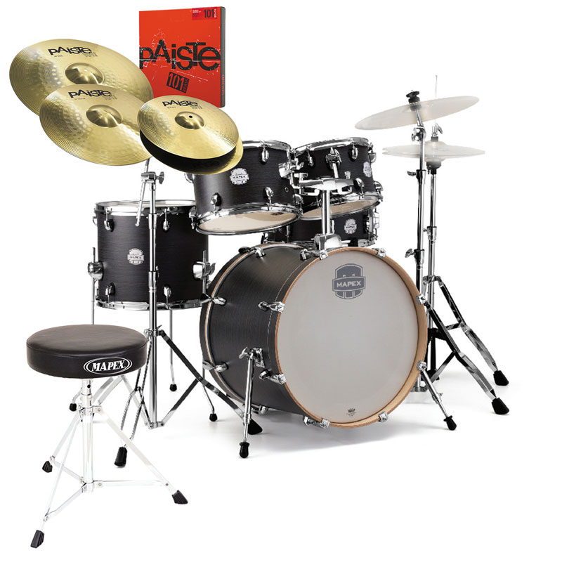 "Mapex Storm 22"" Kit Ebony Blue Grain & Hardware (+Throne & Cymbal Pack Option)"